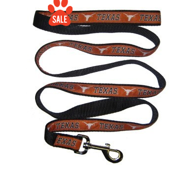Texas Longhorns Dog Leash with Ribbon Trim