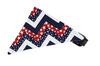 Patriotic Chevron Bandana Pet Collar