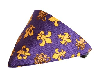 Purple Fleur De Lis Bandana Pet Collar