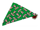 Candy Cane Bandana Pet Collar