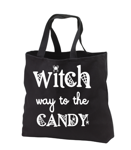 """Witch Way To The Candy"" Halloween Bag"