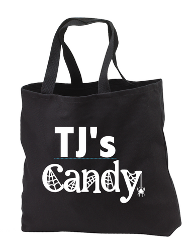 Custom Kid's Name Halloween Candy Bag
