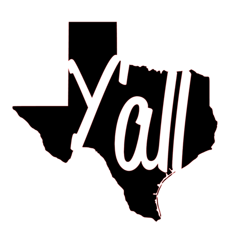 Y'all Texas Decal