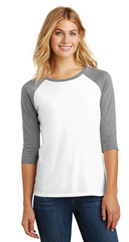 3/4 Length Sleeve Raglan Ringspun Cotton Shirt