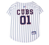 Chicago Cubs Pinstrip Dog Jersey