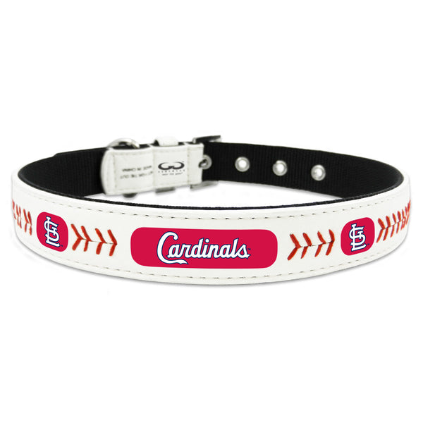 St. Louis Cardinals Dog Collar in Leather