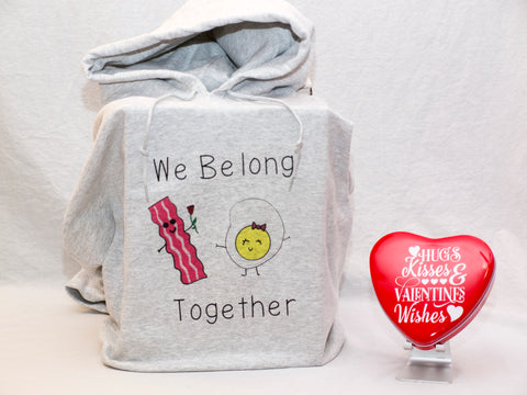 We Belong Together Hoodie & Heart Tin Valentine's Day Gift Box