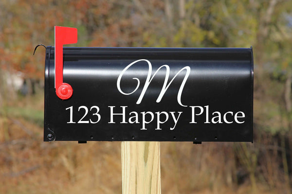 Mailbox Address & Initial Decal