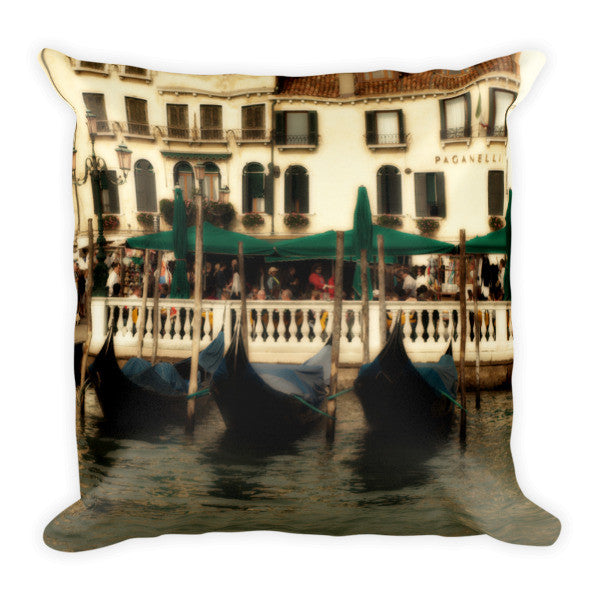 Venice Gondolas Pillow