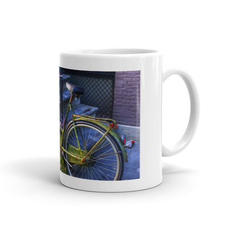 Green Bike in Amsterdam Mug
