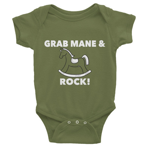 Grab Mane & Rock! Infant short sleeve one-piece