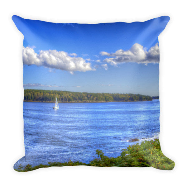 Maine Sailboat Pillow