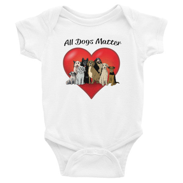 All Dogs Matter Infant short sleeve one-piece