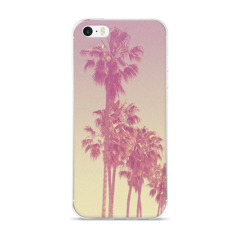 Pink Palm Trees iPhone case