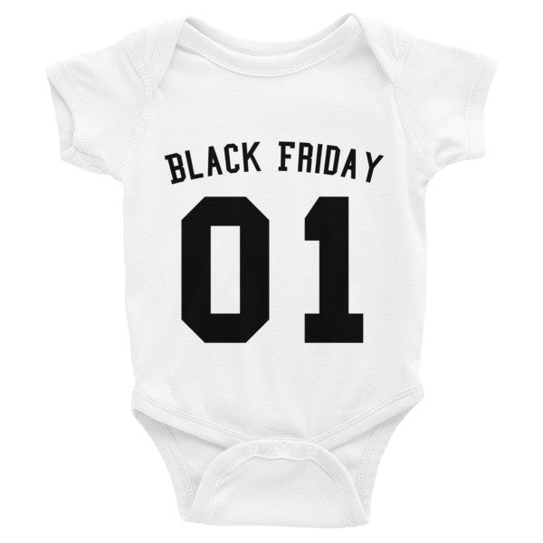 Team Black Friday Infant short sleeve one-piece
