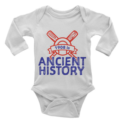 1908 is Ancient History Onesie - Long Sleeve Onesie