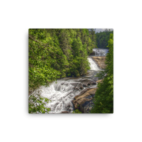 Triple Falls North Carolina Canvas