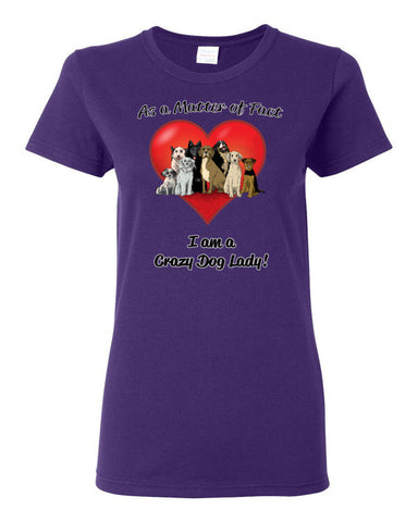 Crazy Dog Lady Women's short sleeve t-shirt
