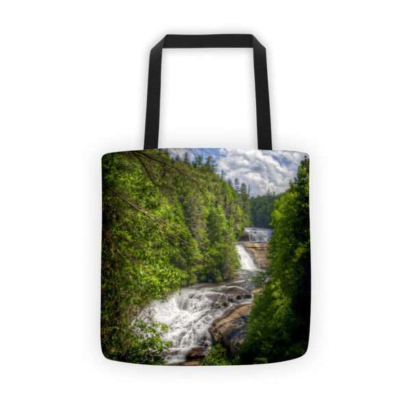 Triple Falls North Carolina Tote bag
