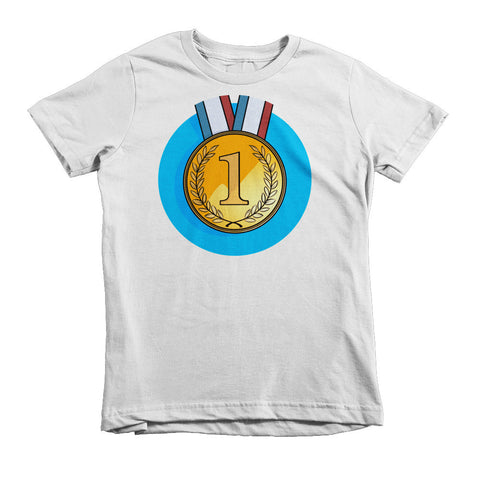 Gold Medal #1 Short sleeve kids t-shirt