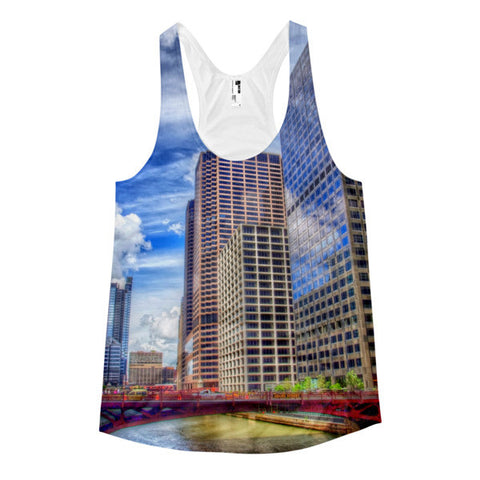 Chicago Women's racerback tank