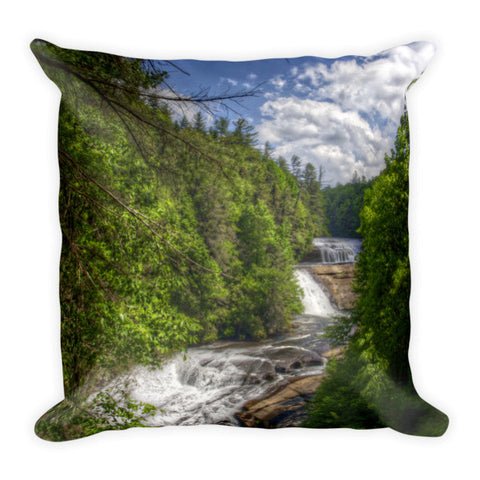 Triple Falls North Carolina Pillow