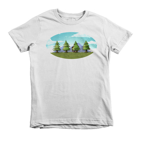 Find The Sasquatch Short sleeve kids t-shirt