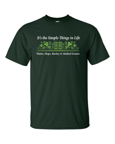 It's the Simple Things in Life Short sleeve t-shirt