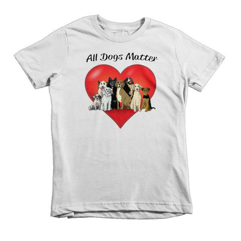 All Dogs Matter Short sleeve kids t-shirt