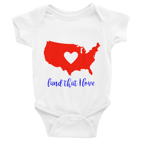 Land That I Love Infant short sleeve one-piece
