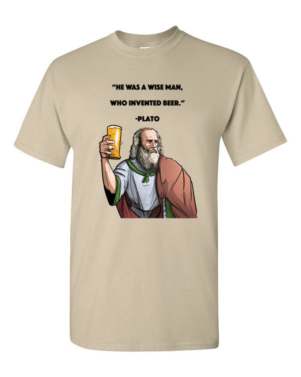 """He was a wise man, who invented beer."" Short sleeve t-shirt"