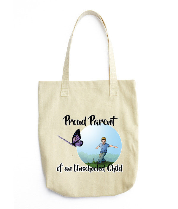 Proud Parent of an Unschooled Child Tote bag