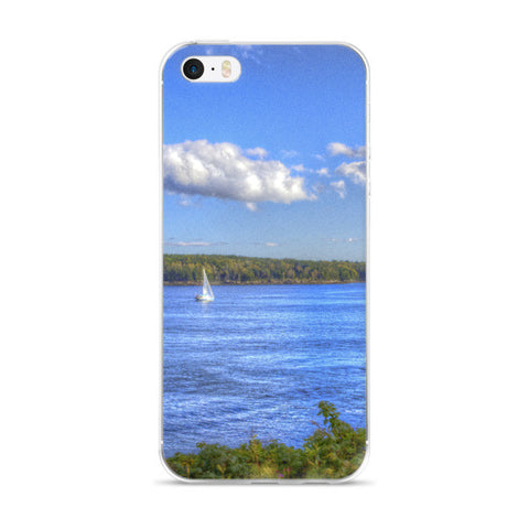 Maine Sailboat iPhone case