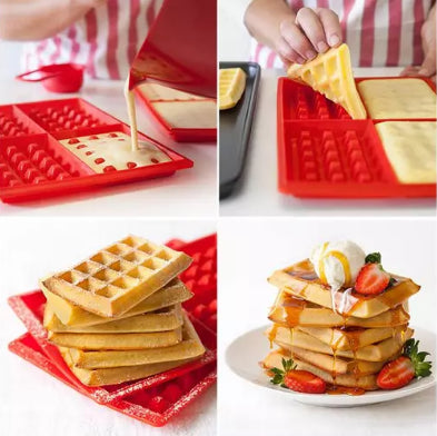 Waffle Silicone Mold – Products 4 Home
