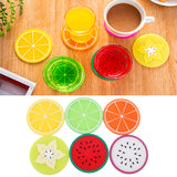 6Pcs/Set Fruit Non Slip Coasters for Drinks