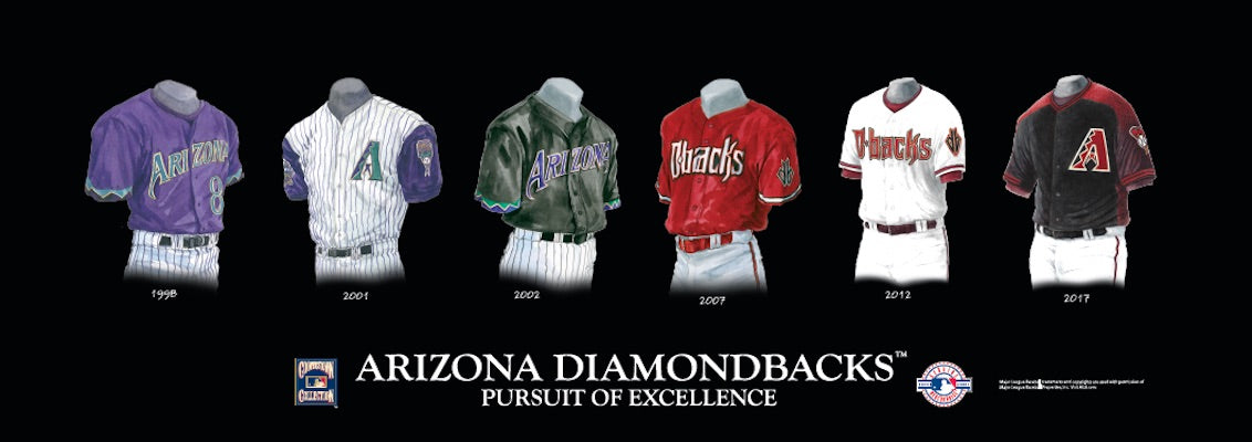 Arizona Diamondbacks uniform evolution poster