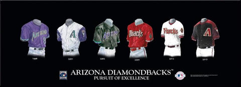 Arizona Diamondbacks Uniform Poster