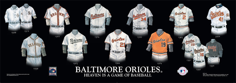Baltimore Orioles Uniform Print