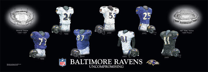 Baltimore Ravens Uniform Print