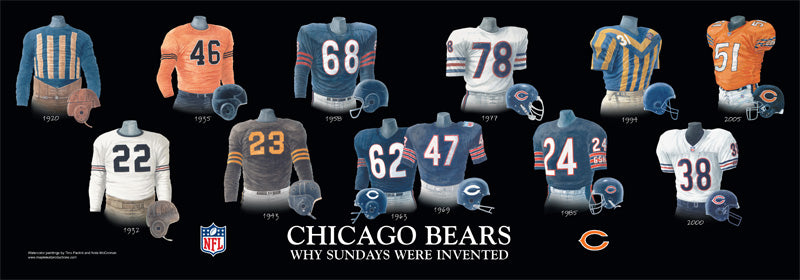 Chicago Bears Uniform Print