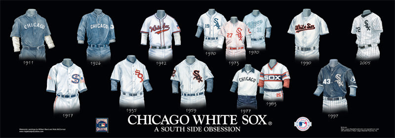 Chicago White Sox Uniform Print