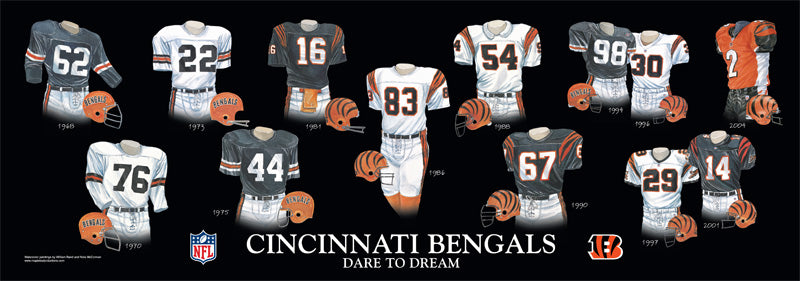 Cincinnati Bengals Uniform Print