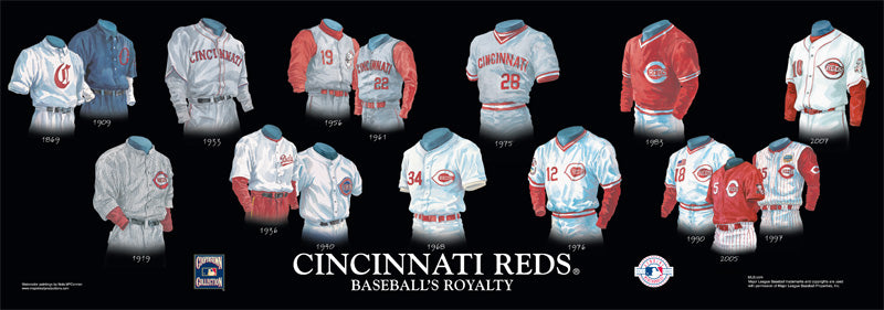 Cincinnati Reds Uniform Print