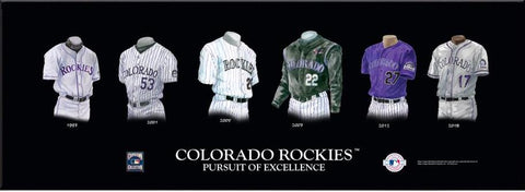 Colorado Rockies Uniform Print