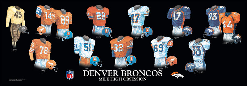 Denver Broncos Uniform Print