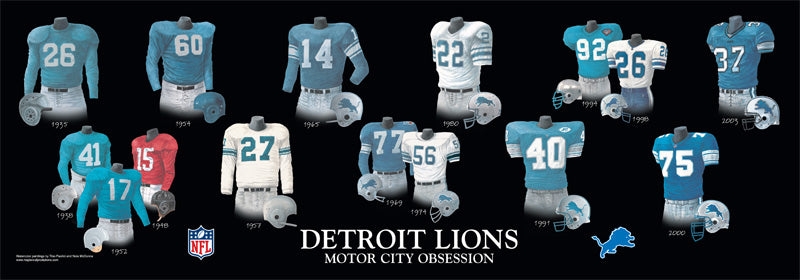 Detroit Lions Uniform Print