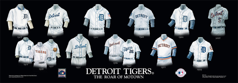 Detroit Tigers Uniform Print