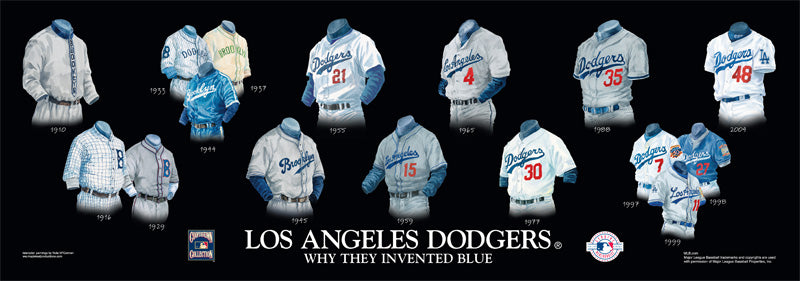 Los Angeles Dodgers Uniform Print