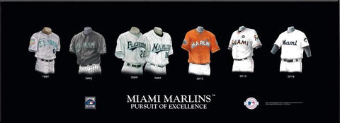 Miami Marlins Uniform Print