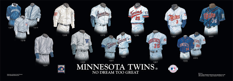 Minnesota Twins Uniform Print